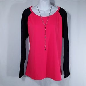 Neon Red and Black Torrid shirt NWT